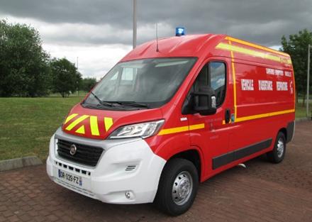 capacité d camion de pompier
